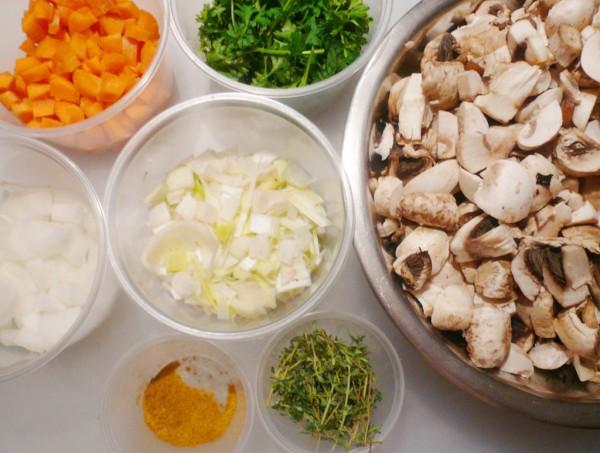 Mise for mushroom stock