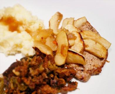 Recipe for Côtes de Porc à la Flamande, Escoffier 2921, from Escoffier At Home
