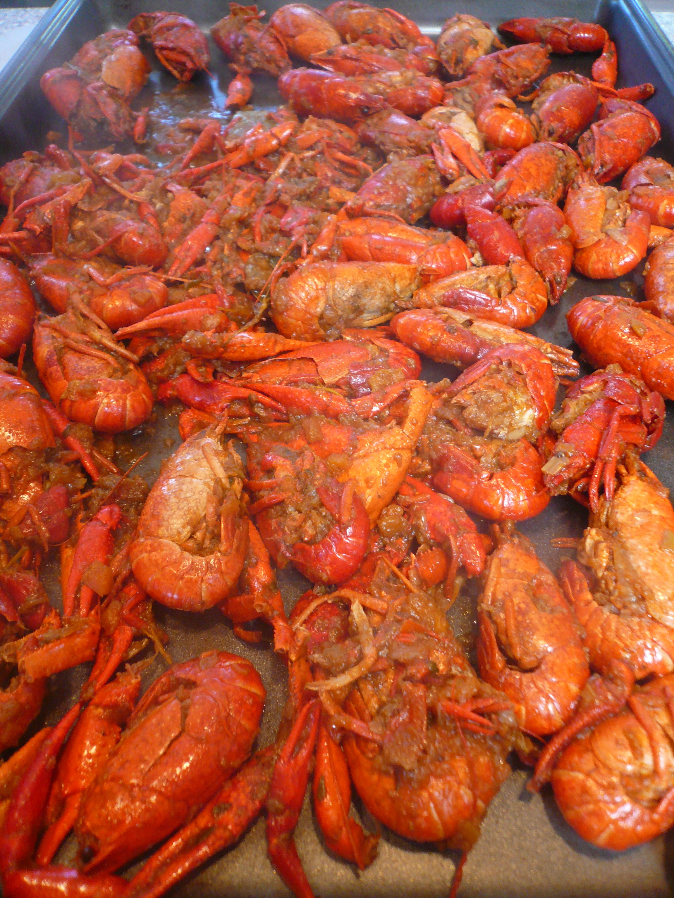 crayfish butter - lay out to cool